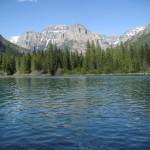 head of Bowman Lake