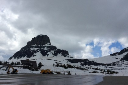 Logan Pass visitor center and equipment
