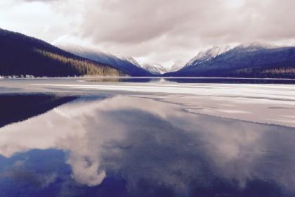 Bowman Lake Unfrozen