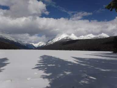 Bowman Lake early March
