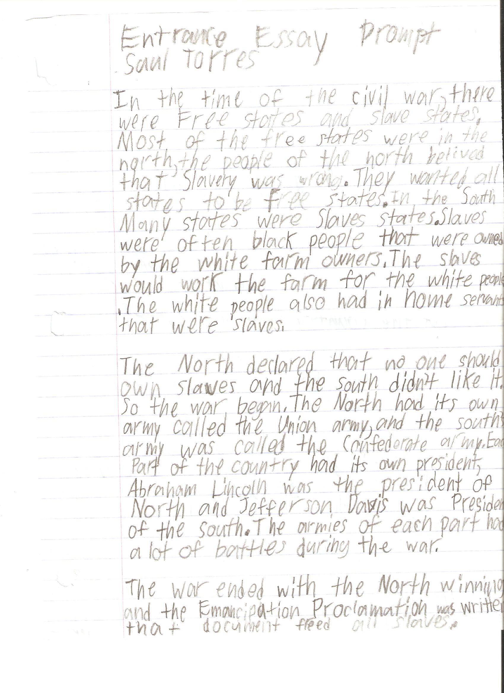 Examples Of Persuasive Essays For 6th Graders
