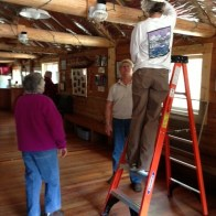 Jackie cleaning rafters