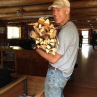 Richard loading the wood box