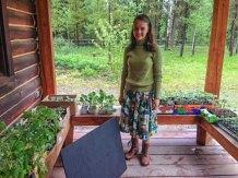 Valerie and her seedlings