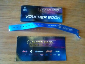 2013s superbash items (wirstband, ticket + vouchers)