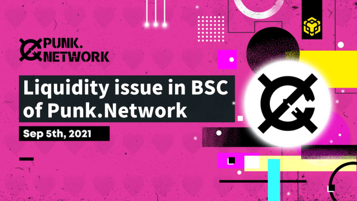 Liquidity issue in BSC of Punk.Network Announcement