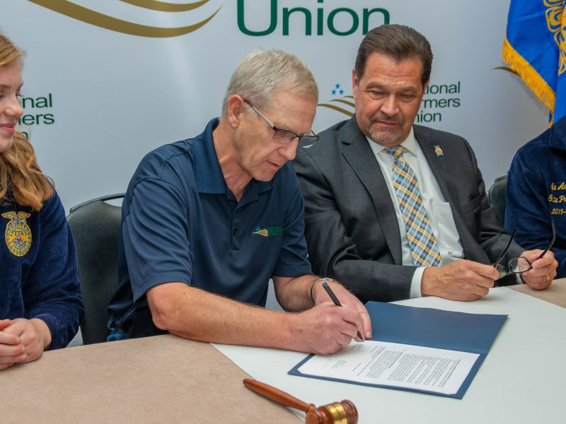 NFU, FFA Cement Partnership at MOU Signing Ceremony; Groups Work Together to Strengthen Youth Agricultural Education and Leadership