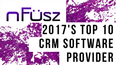 nFüsz Named A Top 10 CRM Solution Provider Of 2017