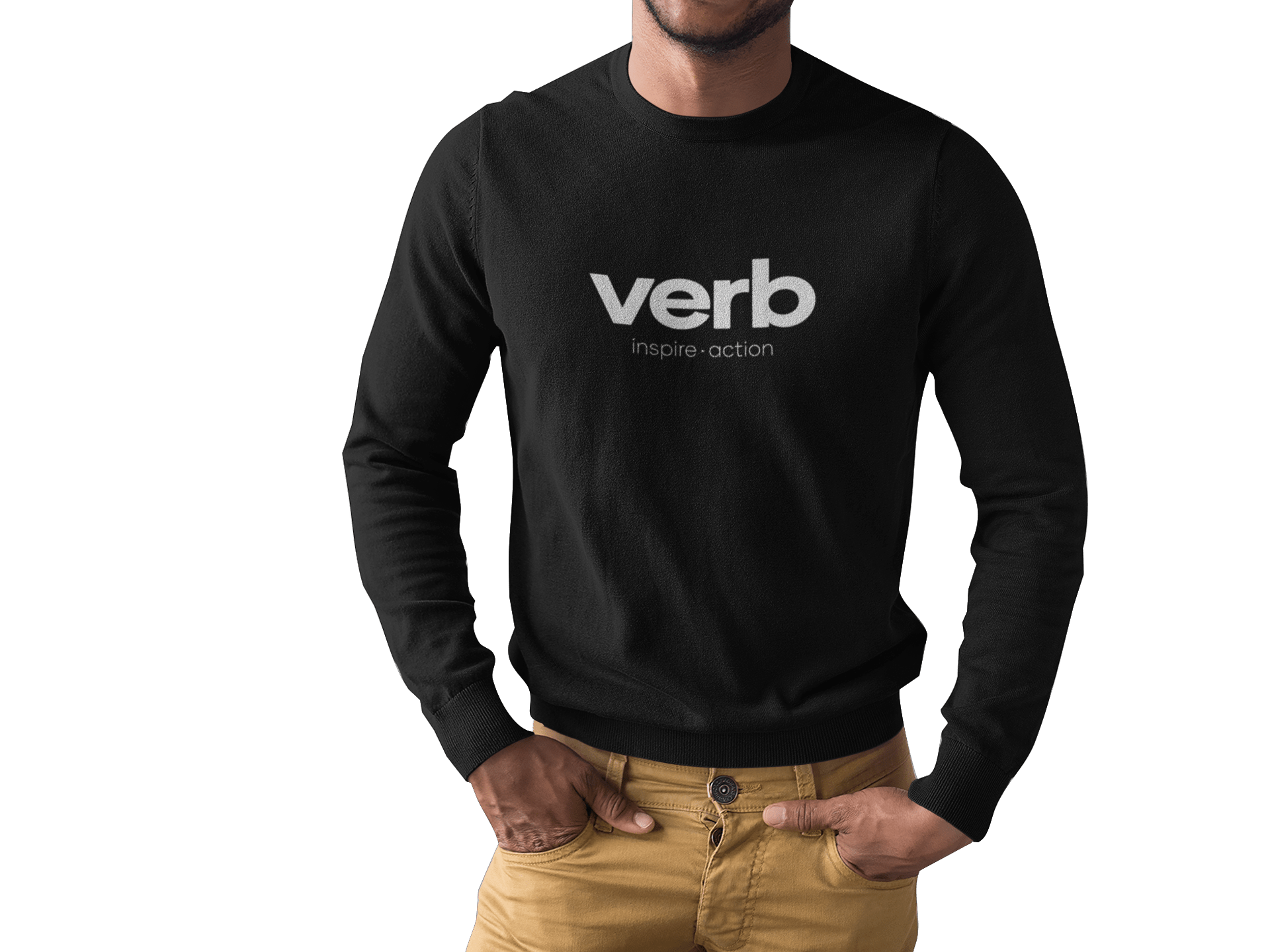 Black Man Wearing A Long Sleeve Tee Mockup While Standing Cropped Faced Against Transparent Surface A15512 1