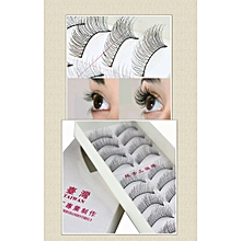 10 Pairs Soft Natural Cross Eye Lashes Makeup Extension False Eyelashes