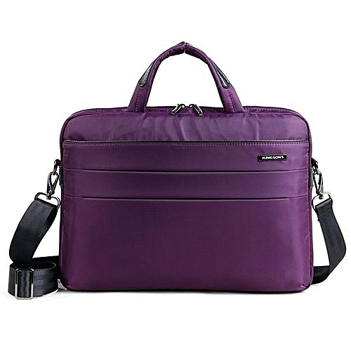Generic 2018 Best Quality 14.1 Inch Notebook Computer Laptop Fashion Waterproof Bag For Women Shoulder Messenger Bags Ladies Girls Handbag--Purple