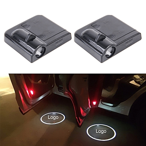Generic 2 PCS LED Ghost Shadow Light, Car Door LED Laser Welcome Decorative Light, Display Logo For Honda Car Brand(Black)