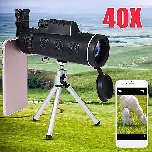 Universal Monocular 40X60 Zoom Optical Lens Telescope + Tripod + Clip For Mobile Phone