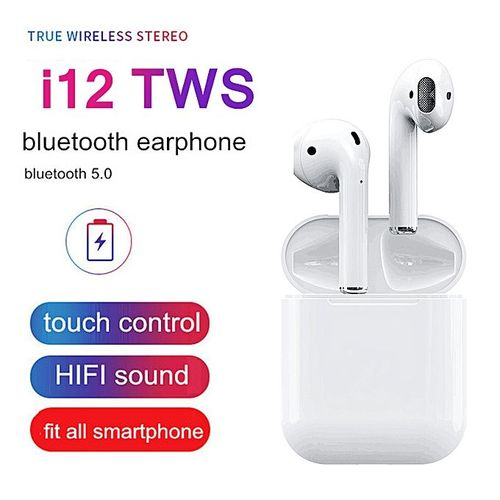 I12TWS Bluetooth Earphone Earbuds Sport HiFi Stereo Sound Touch Control