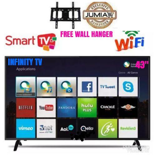 "43"" SMART FULL HD LED TV +FREE WALL HANGER+ 1 YR WARRANTY"