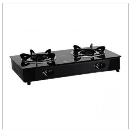 Table Top Gas Cooker With Glass Top - 2 Burner