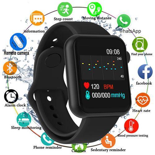 Smart Watch Bluetooth Touch Screen Pedometer Watch