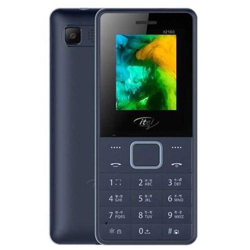2160 Wireless FM, Bright Torchlight, Call Recorder, Dual SIM Mobile - Blue