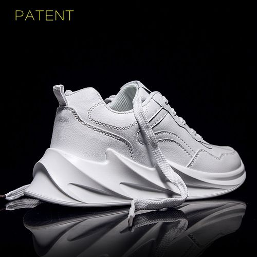 Shark Bottom Tide Shoes Men's Personality Sneakers -White
