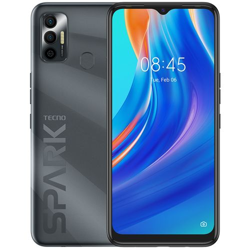 "Spark 7 (PR651H) 6.5"" HD+, 2GB RAM + 32GB ROM, 5000mAh, 16MP Dual Camera +8MP Selfie, Android 11, 4G, Fingerprint -Black"