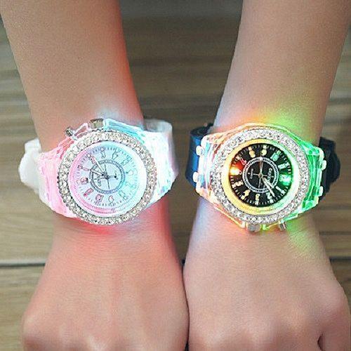 2 Pieces Of Couple Luminous Led Wrist Watch