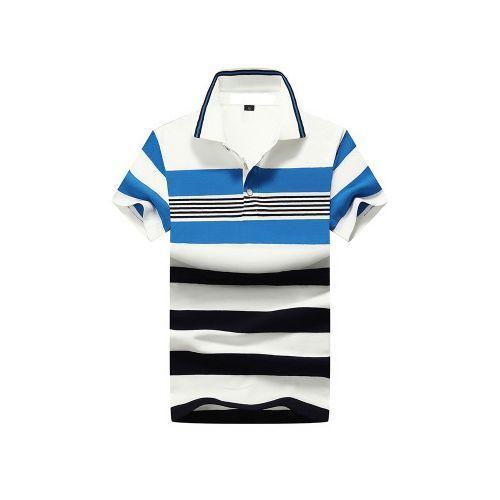 Men's Cotton Casual Short-sleeved T-shirt POLO Shirt -Blue