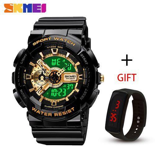 Men's Analog Digital Multifunctional Sport Dual Time Watch