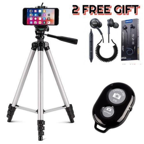 Phone Tripod Stand Kit With Remote Control Lightweight Portable