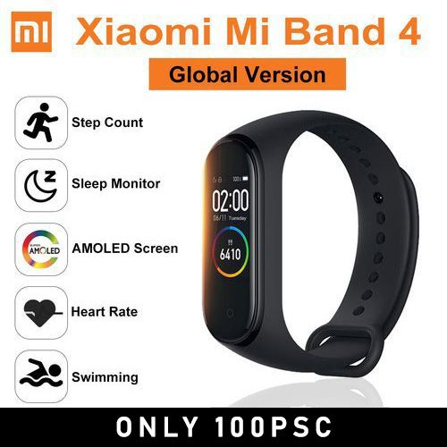 Band 4 Global Version Smart Watch Sports Health Fitness Tracker