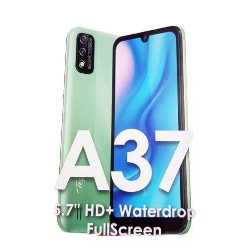 "A37- 5.7"" HD+ Waterdrop -1GB RAM + 16GB ROM, Android 10, 3020mAh , 5MP Camera, Face ID - GRADATIONGreen"