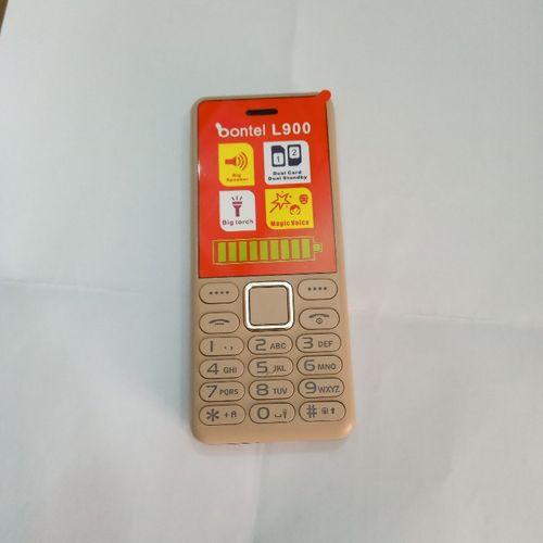 L900 Feature Phone With Big Torch Light, Bontel Cloud & Big Battery - Golden