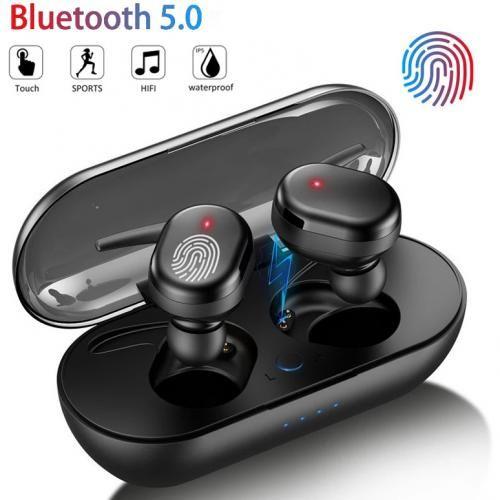 Fingerprint Touch Bluetooth 5.0 Earphones Wireless Stereo Headphones