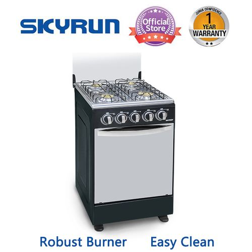 4 Burners(4+0)Gas Cooker - Black