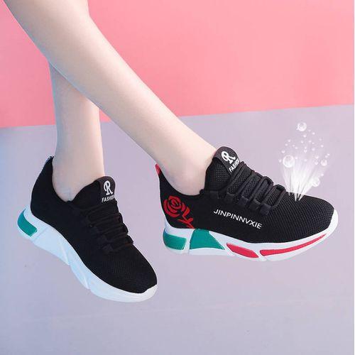 Women Fashion Sneakers. Black