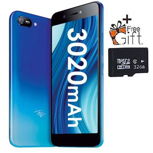 "A35 5.0"" HD Screen, 1GB RAM + 16GB ROM, Android 10, 3020mAh Battery, 5MP +2MP Camera, Face Unlock - Blue +Free 32GB Card"