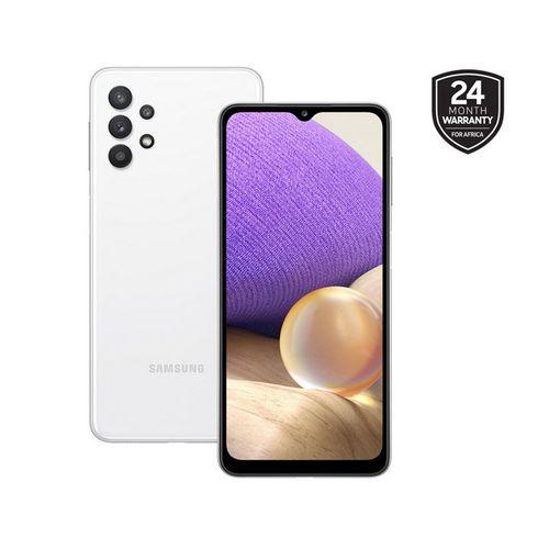 "Galaxy A32 - 6.4"", 6/128GB Memory, Camera - 64/8/5/5MP, 20MP Selfie, Dual SIM, 5,000Mah Battery, 4G LTE - Awesome White"