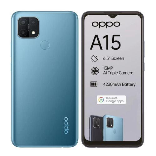 "A15, 6.52"", 32GB ROM + 3GB RAM, 13MP+2MP+2MP Rear + 5MP Selfie Camera, 4230mAh - Mystery Blue"