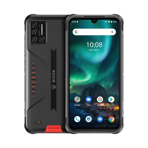 BISON Rugged Phone 8GB+128GB 5000mAh Battery 6.3 Inch Android 11 4G Smartphone - Orange