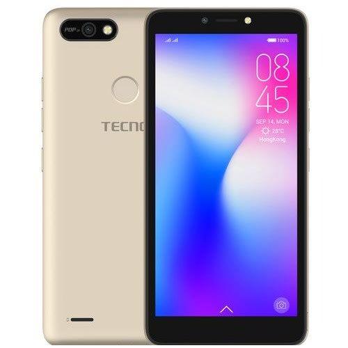 "Tecno POP 2F (B1G) 5.5"" Android 8.1, 16GB ROM + 1GB RAM, 8+5MP Beauty Camera, Fingerprint, Face ID, 2400mAh Battery - Gold"