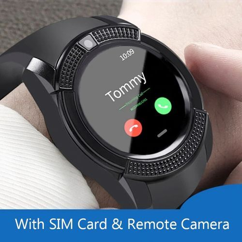Sporty V8 Smart Watch Fitness Touch Screen Wristband