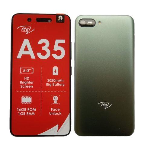 "A35 5.0"" HD Screen, 1GB RAM + 16GB ROM, Android 10, 3020mAh Battery, 5MP +2MP Camera, Face Unlock, 3G - Green +Free Case"