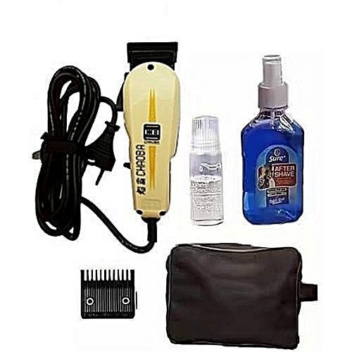Professional Hair Clipper With Aftershave And Bag - Complete Barbing Set