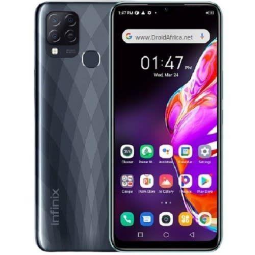 "Hot 10T - 6.82"" HD+ (4GB RAM,128GB ROM) - Android 11 (48/2/2)MP + 8MP Selfie - Dual Sim - 4G LTE - 5000mAh - Black"