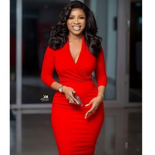 Ladies Fancy Red Dress