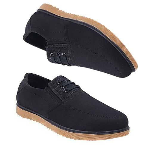 Men's Sneakers With A Lace Up Black