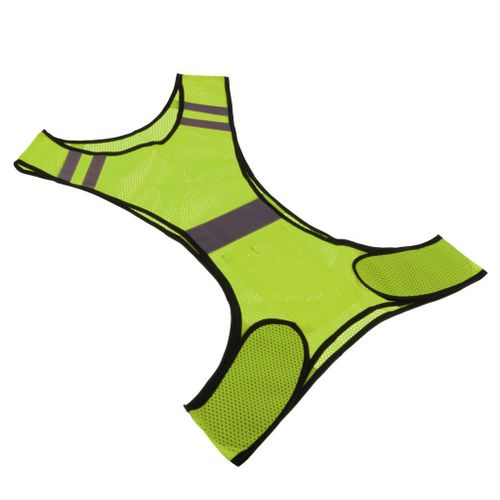 Reflective Running Vest High Visibility Sports Vest For Cycling Yellow