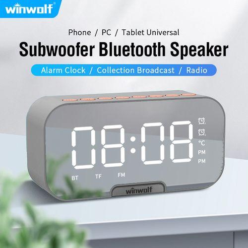 Bluetooth Speaker Wireless Portable Alarm Clock FM Radio