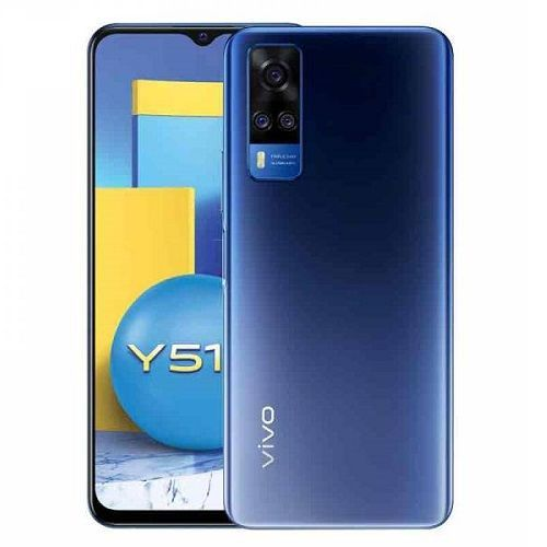 Y51, 6.58-Inch, 8GB RAM 128GB ROM Android 11 (48MP + 8MP + 2MP) + 16MP Dual SIM - Titanium Sapphire