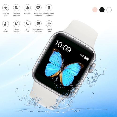 T500 Intelligent Watch Health Monitor IP67 Waterproof-White