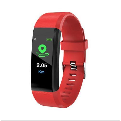 115Plus Silicone Digital Smart Watch - Red